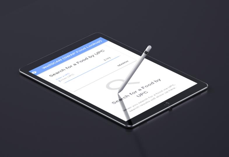 WellScan web/mobile application for food banks