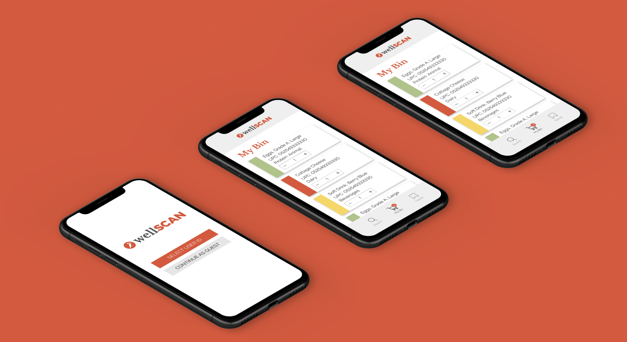 WellScan web/mobile application for food banks